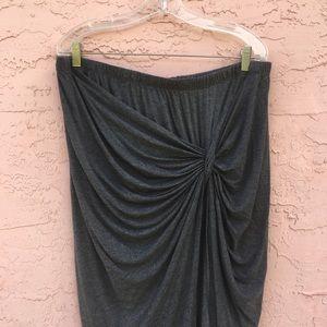 Torrid Heather Gray Wrap Skirt Loungewear